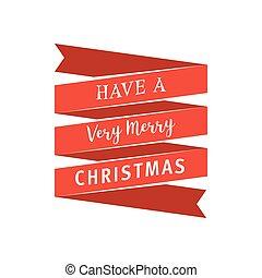 big, červené šaty lem, s, dostat, jeden, velmi, merry christmas, text., vinobraní, grafické pozadí, s, typografie, a, lem