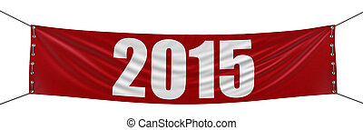 2015 Banner - Big 2015 Banner. Image with clipping path