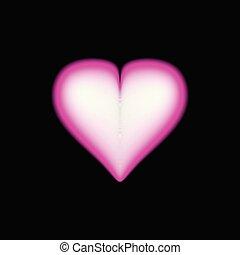 Big 3d Red Heart, Vector Illustration