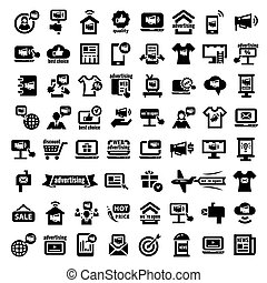 big advertising icons set