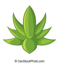Big agave icon, cartoon style - Big agave icon. Cartoon ...