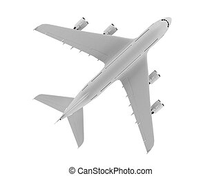 isolated big airplane on a white background