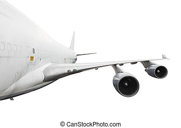 big airplane on white with clipping path
