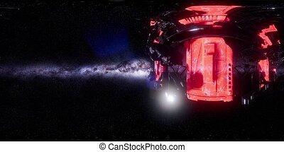 Big Alien Mothership. VR 360 Virtual Reality - big alien...