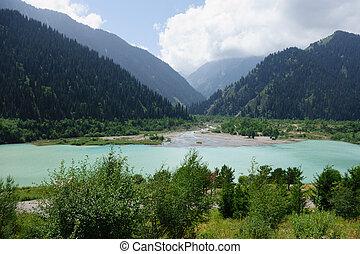 Big Almaty Lakeat the Ile-Alatau National Park
