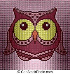 Big amusing cartoon owl