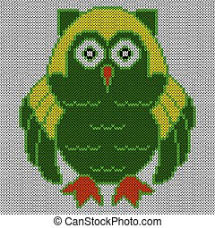 Big amusing clever owl