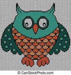 Big amusing owl