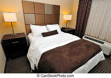 Big and comfortable lodging with large bedroom.