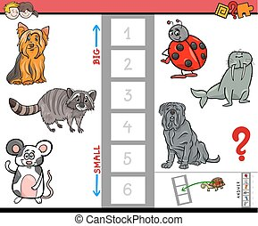 big and small animals cartoon game
