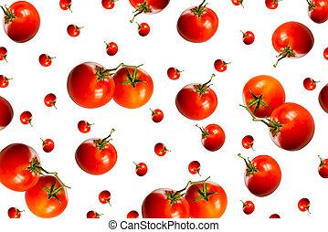 big and small tomatos