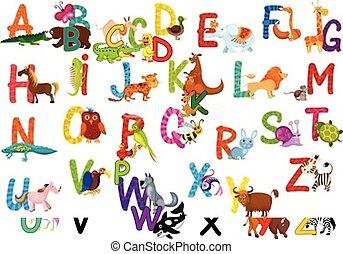 big animal cartoon collection