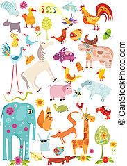 big animal set - vector illustration of a animal set