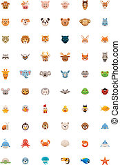 Big animals icon set