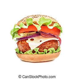 Big appetizing hamburger
