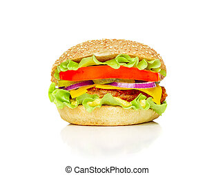 Big appetizing hamburger