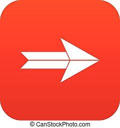 Big arrow icon digital red