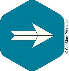 Big arrow icon, simple style
