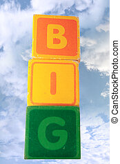 big assorted toy childs play blocks