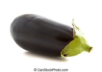 Huge dark aubergine isolated over white