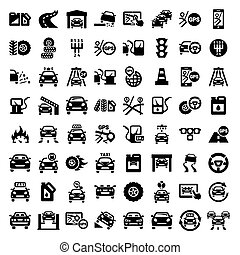 big auto icons set - Big Auto Icons Set Created For Mobile,...