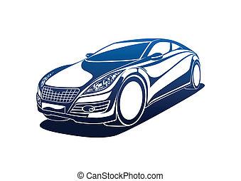 Big automobile - Automobile vector