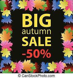 Big autumn sale design template pos