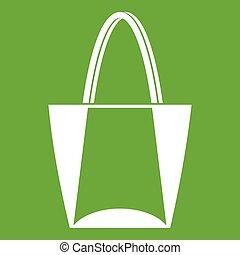 Big bag icon green