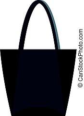 Big bag icon isolated
