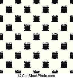 Big bag money pattern seamless vector