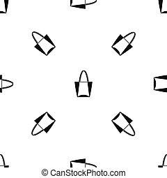 Big bag pattern seamless black