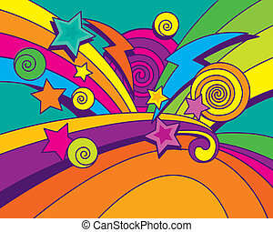 Abstract Colorful Energetic Background