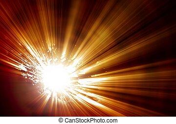 Big bang - Abstract illustration of big explosion