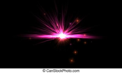 big bang in cosmos, explosion & lightspeed tunnel in ...