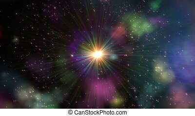 Big Bang in Space, star sexplosion
