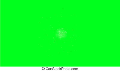 Big Bang Space Explosion on green screen