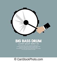 Big Bass Drum Music Instrument.