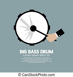 Big Bass Drum Music Instrument.