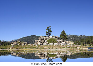 Big Bear Lake in the Southern California mountains
