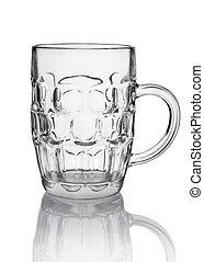 Big beer glass isolated