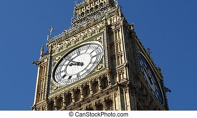 big ben, an, der, häuser parlaments, westminster palast, london, vereinigtes königreich, -, (16:9, ratio)