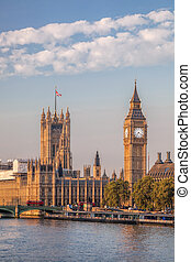 Big Ben and Houses of Parliament in London, England, UK