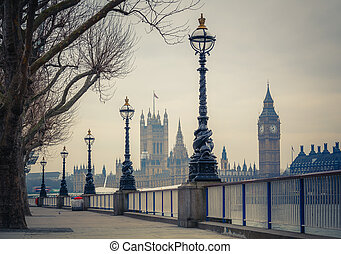 Big Ben and Houses of parliament, London - Big Ben and ...