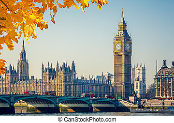 Big Ben and Houses of parliament, London