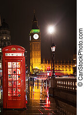 Big Ben and Houses of Parliament red phone booth