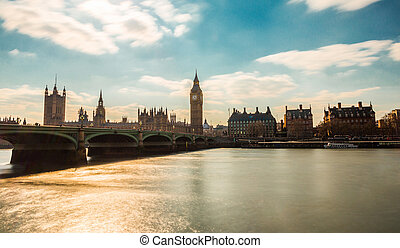 The Palace of Westminster is the meeting place of the House of Commons and the House of Lords, the two houses of the Parliament of the United Kingdom