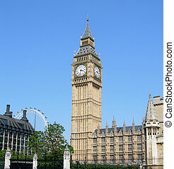 Big Ben and the Parliament Building in London, England, UK