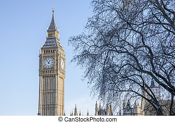 Big Ben and the Houses of Parliament; Westminster; London