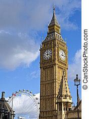 Big Ben and the London Eye