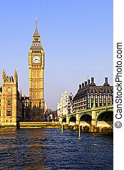 Big Ben and Westminster bridge - Big Ben and Westminster...